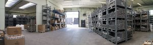 magazzino semi-lavorati in acciaio inox
