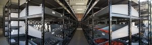 magazzino semi-lavorati valvole in acciaio inox