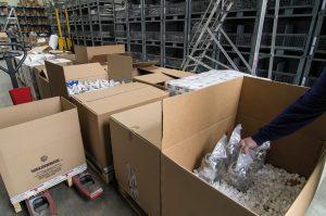 spedizione e imballaggio valvole