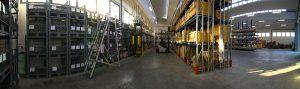 magazzino semi lavorati in acciaio inox