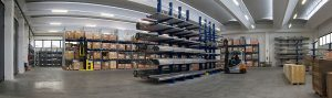 magazzino tubi in inox e materie prime